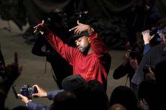 Kanye West at New York Fashion Week