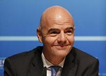 Candidato a presidente da Fifa Gianni Infantino na Suíça. 22/01/2016 REUTERS/Denis Balibouse