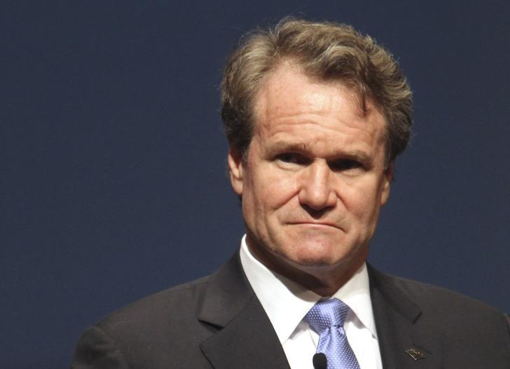 Bank of America CEO Brian Moynihan looks on during the White House summit on cybersecurity and consumer protection in Palo Alto, California February 13, 2015. REUTERS/Robert Galbraith