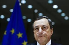 European Central Bank (ECB) President Mario Draghi testifies before the European Parliament's Economic and Monetary Affairs Committee in Brussels, Belgium, February 15, 2016. REUTERS/Yves Herman