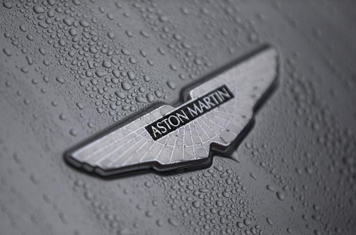 The badge of an Aston Martin DB10 is displayed at a UK Trade and Investment event in London, Britain October 21, 2015. REUTERS/Neil Hall