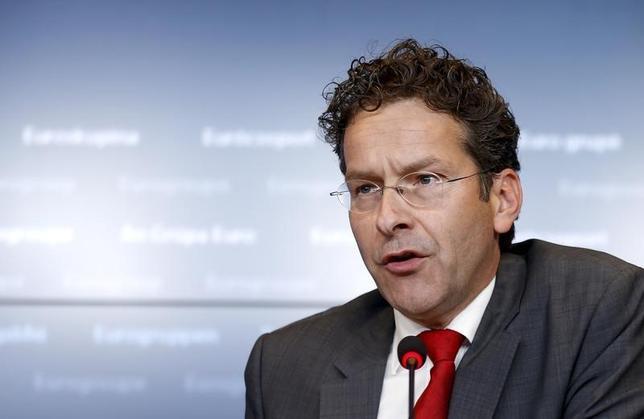 2月18日、ユーログループのデイセルブルム議長は、銀行は国債へのエクスポージャーを減らす必要があるが、段階的に行なうべきと述べた。写真は昨年6月撮影。(2016年 ロイター/Francois Lenoir )