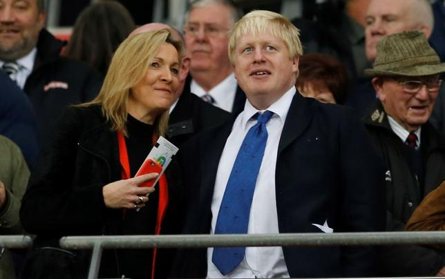 London Mayor Boris Johnson in the stands. England v France - International Friendly - Wembley Stadium, London, England - 17/11/15. Action Images via Reuters / John Sibley Livepic