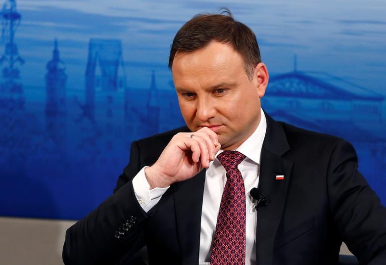 Poland's President Andrzej Duda attends the Presidential debate at the Munich Security Conference in Munich, Germany, February 13, 2016. REUTERS/Michael Dalder