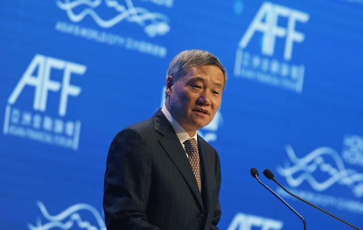 China Securities Regulatory Commission Chairman Xiao Gang addresses the Asian Financial Forum in Hong Kong January 19, 2015. REUTERS/Bobby Yip
