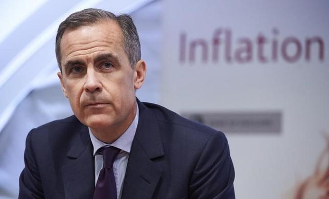 2月23日、イングランド銀行のカーニー総裁(写真)は、議会で証言し、景気刺激が必要な場合、利下げや量的緩和の拡大など、かなりの政策余地あるとの認識を示した。ロンドンで4日撮影(2016年 ロイター/Niklas Hall'en)