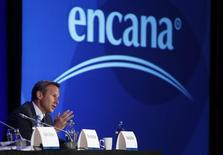 President and CEO of Encana Doug Suttles addresses shareholders at the company's annual meeting in Calgary, Alberta, May 13, 2014. REUTERS/Todd Korol
