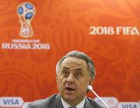 Russian Sports Minister Vitaly Mutko speaks during a news conference following a meeting of 2018 FIFA World Cup organising committee management board with representatives of FIFA in Moscow, Russia November 24, 2015. REUTERS/Maxim Zmeyev