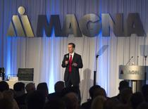 Magna International Inc Chief Executive Officer Donald Walker speaks to shareholders at the company's annual general meeting in Toronto in this file photo dated May 10, 2012. REUTERS/Fred Thornhill