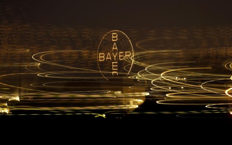 The logo of German drugmaker Bayer is seen in Leverkusen April 26, 2014. REUTERS/Ina Fassbender