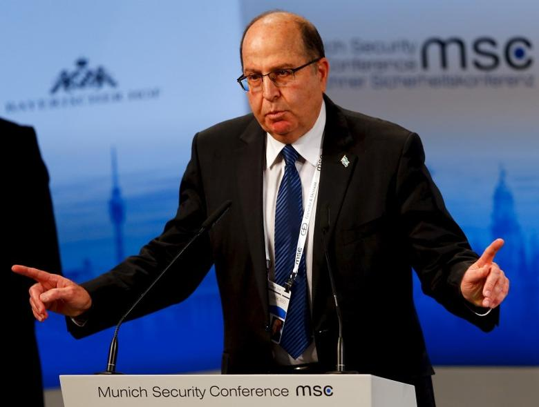 Israeli Defence Minister Moshe Yaalon speaks at the Munich Security Conference in Munich, Germany, February 14, 2016.       REUTERS/Michael Dalder