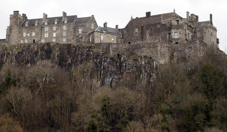 Stirling Castle, built in the 12th century, stands on an extinct volcano in Stirling, Scotland, Britain February 29, 2016. Picture taken February 29, 2016.  REUTERS/Russell Cheyne