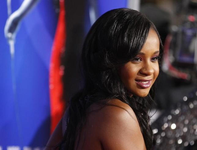 Bobbi Kristina Brown, daughter of the late singer Whitney Houston, poses at the premiere of ''Sparkle'' in Hollywood, California August 16, 2012. REUTERS/Fred Prouser