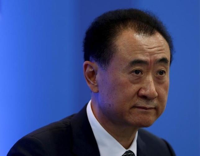Wang Jianlin, Chairman of Dalian Wanda Group in China, attends a dialogue session during the Asian Financial Forum in Hong Kong, China, January 18, 2016. REUTERS/Bobby Yip