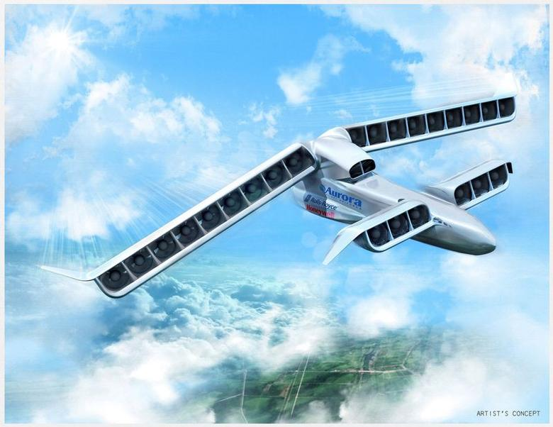 Aurora Flight Sciences VTOL X-Plane is seen in an undated artist's illustration received on March 4, 2016. Aurora Flight Sciences has been awarded a contract for more than $89 million for the vertical take off and landing X-plane, the Pentagon said on March 3, 2016.  REUTERS/Aurora Flight Sciences/Handout via Reuters