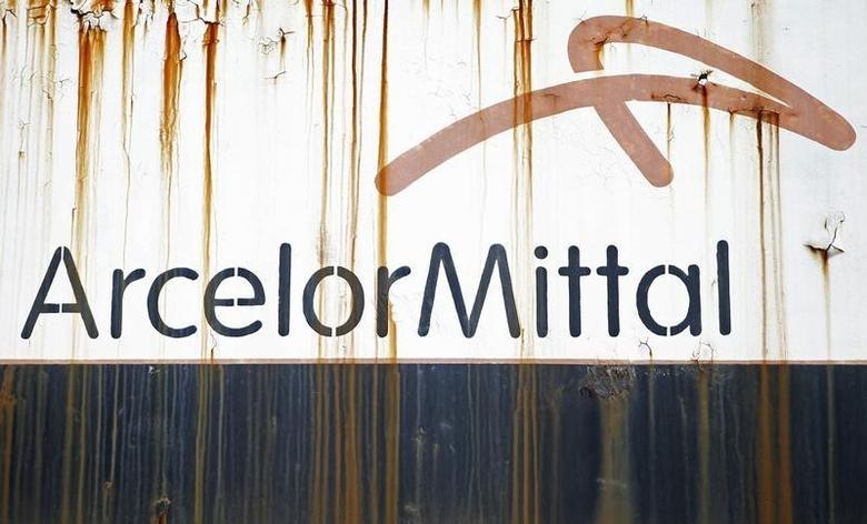 File photo of steel factory ArcelorMittal's logo seen on an old train in Zenica, Bosnia and Herzegovina, February 9, 2016. REUTERS/Dado Ruvic