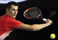 File photo of Australia's Bernard Tomic during his third round match against compatriot John Millman at the Australian Open tennis tournament at Melbourne Park, Australia, January 24, 2016. REUTERS/Brandon Malone