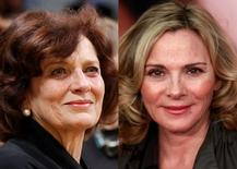 Margaret Trudeau (L) and Kim Cattrall. REUTERS/Chris Wattie/Lucas Jackson