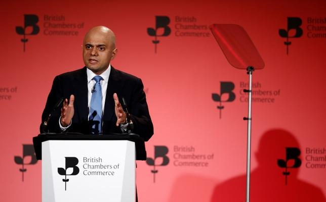 Britain's Business Secretary Sajid Javid speaks at the British Chambers of Commerce annual conference in London, Britain March 3, 2016. REUTERS/Peter Nicholls