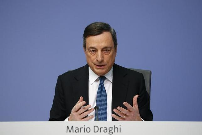 European Central Bank (ECB) President Mario Draghi addresses a news conference at the ECB headquarters in Frankfurt, Germany, March 10, 2016.   REUTERS/Kai Pfaffenbach