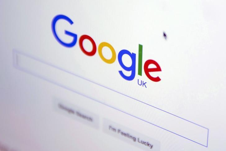 The Google internet homepage is displayed on a product at a store in London, Britain January 23, 2016. REUTERS/Neil Hall