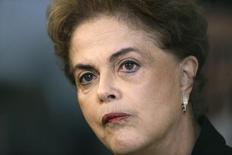 Presidente Dilma Rousseff durante entrevista em Brasília 11/3/2016 REUTERS/Ueslei Marcelino