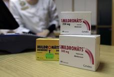 Mildronate (Meldonium) medication is pictured in the pharmacy in Saulkrasti, Latvia, March 9, 2016. REUTERS/Ints Kalnins