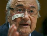 Ex-presidente da Fifa Joseph Blatter durante evento em Zurique.     21/12/2015      REUTERS/Arnd Wiegmann