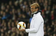 Técnico do Liverpool, Juergen Klopp, durante partida contra Manchester United.   17/03/2016 Action Images via Reuters / Jason Cairnduff Livepic