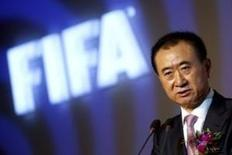 Wang Jianlin, the chairman of Dalian Wanda Group in China speaks during an event announcing strategic partnership between Wanda Group and FIFA in Beijing March 21, 2016. REUTERS/Damir Sagolj