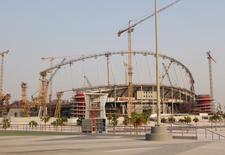 Estádio sendo construído em Doha, Catar.   16/09/2015   REUTERS/Naseem Zeitoon/Files