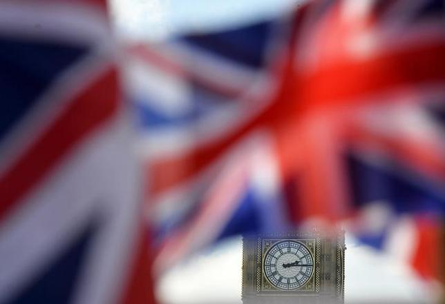 British Union flags fly in front of the Big Ben clocktower of The Houses of Parliament in central London, Britain February 24, 2016. REUTERS/Hannah McKay