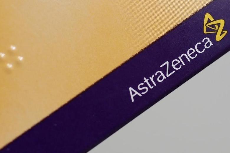 The logo of AstraZeneca is seen on a medication package in a pharmacy in London April 28, 2014. REUTERS/Stefan Wermuth