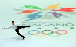 Igor Pashkevich from Azerbaijan practices his figure skating program  February 1 at the White Ring stadium which will host the Olympic competition.  Reuters photographer