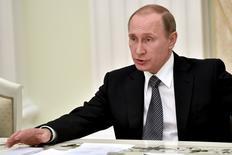 Presidente russo Putin durante evento em Moscou.  23/3/2016. REUTERS/Kirill Kudryavtsev/Divulgação