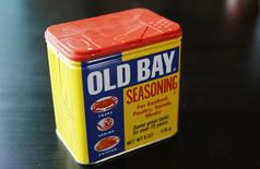 A can of Old Bay Seasoning, one of the premier brands of spices manufactured by McCormick & Co. is seen in this illustration taken in Adelphi, Maryland March 18, 2016. REUTERS/Jim Bourg