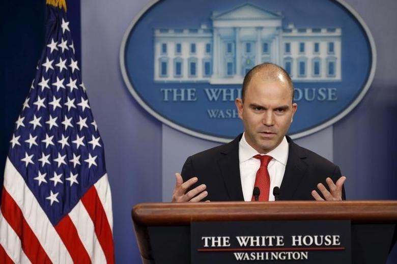 U.S. Deputy National Security Advisor Ben Rhodes speaks about Obama's upcoming visit to Cuba at the White House in Washington February 18, 2016. REUTERS/Kevin Lamarque