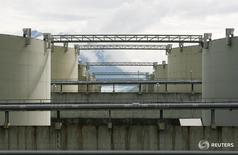 Хранилища нефти в Вальдесе, Аляска 8 августа 2008 года.  Запасы нефти в США выросли на 2,6 миллиона баррелей до 534,4 миллиона баррелей на неделе, завершившейся 25 марта, сообщил Американский институт нефти (API). REUTERS/Lucas Jackson