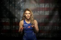 Wrestler Helen Maroulis poses for a portrait at the U.S. Olympic Committee Media Summit in Beverly Hills, Los Angeles, California in this March 9, 2016 file photo. REUTERS/Lucy Nicholson/Files