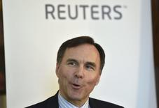 Canada's Finance Minister Bill Morneau speaks at a Reuters Newsmaker event at Canada House in London, Britain, April 1, 2016. REUTERS/Toby Melville