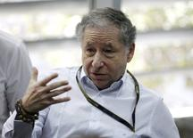 Formula One - Bahrain F1 Grand Prix - Sakhir, Bahrain - 02/04/16 - FIA President Jean Todt speaks to the media ahead of the third practice session. REUTERS/Hamad I Mohammed