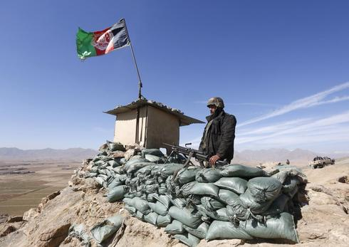 Afghan forces on duty