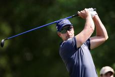 Henrik Stenson tees off on the second hole during the third round of the Shell Houston Open at Golf Club of Houston - The Tournament Course. Mandatory Credit: Erich Schlegel-USA TODAY Sports