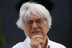 Formula One supremo Bernie Ecclestone looks on before the Hungarian F1 Grand Prix at the Hungaroring circuit, near Budapest, Hungary July 26, 2015. REUTERS/Laszlo Balogh