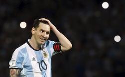 Lionel Messi durante partida da Argentina.    29/03/2016      REUTERS/Enrique Marcarian