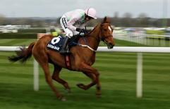 Horse Racing - Crabbie's Grand National Festival - Aintree Racecourse - 7/4/16 Annie Power ridden by Ruby Walsh before winning the 3.25 Doom Bar Aintree Hurdle Action Images via Reuters / Jason Cairnduff Livepic