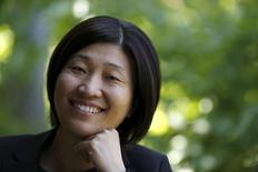 Managing partner of GGV Capital, Jenny Lee poses for a portrait in Menlo Park, California August 24, 2015. REUTERS/Robert Galbraith