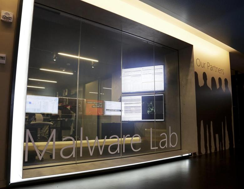 A malware lab is pictured inside the Microsoft Cybercrime Center, the new headquarters of the Microsoft Digital Crimes Unit, in Redmond, Washington in a November 11, 2013 file photo.    REUTERS/Jason Redmond/Files