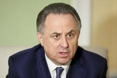 Russian Sports Minister Vitaly Mutko speaks during an interview with Reuters in Moscow, Russia, March 11, 2016.  REUTERS/Maxim Zmeyev