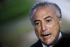 Vice-presidente Michel Temer concede entrevista em Brasília.  11/4/2016. REUTERS/Ueslei Marcelino